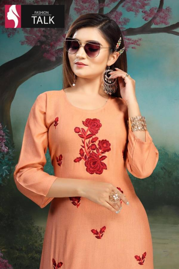 Ft Strawberry Latest Fancy Designer Heavy Casual Wear Simple Kurtis Collection