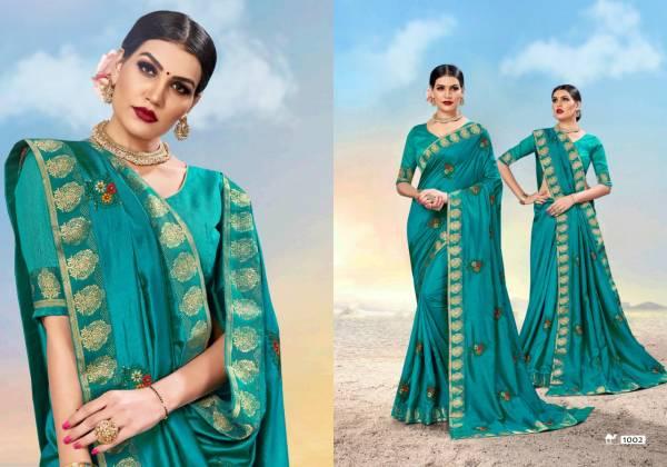 Ronisha Magical Exclusive Designer Festive Wear Vichitra Silk Sarees Collection