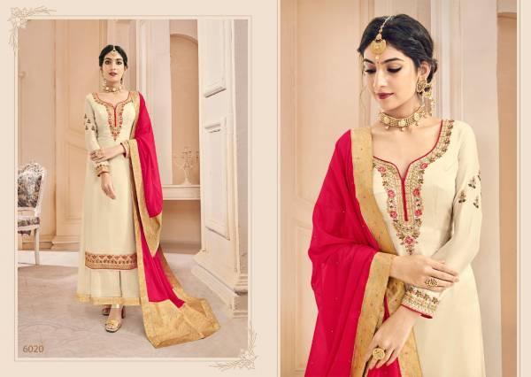 Kesari Naaz 3 Designer Heavy Fox Georgette and Heavy Self Embroidery work Dupatta Pallu and Diamond Salwar Suits Collection