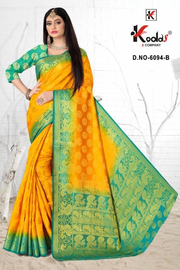 Manisha 6094 Silk Wear Designer Festive Wear Silk Saree Collection