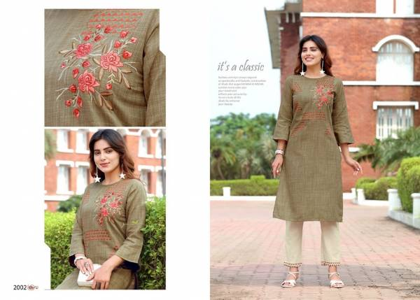 Arion Radhey Vol 2 Latest Designer Casual Party Wear Flex Cotton Kurtis Collection With Bottom