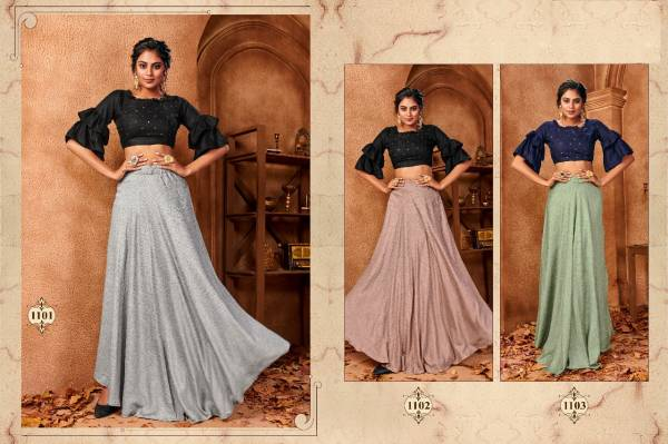 Zaira Latest Designer Party Wear Top With Skirt Collection