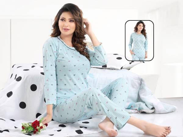Kavyanshika Latest Comfortable Hosier Cotton Printed Night Suit Collection