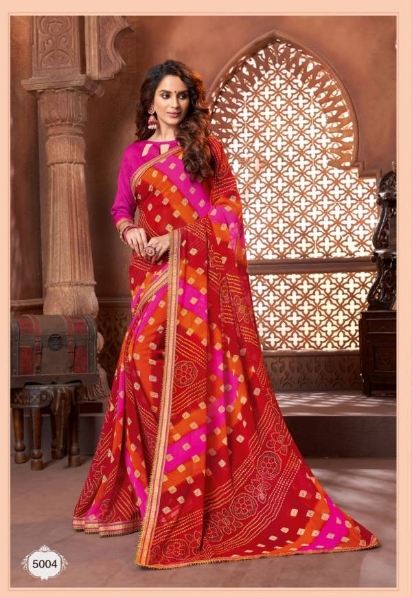 Hirva Latest Bandhani Style Designer Saree Collection
