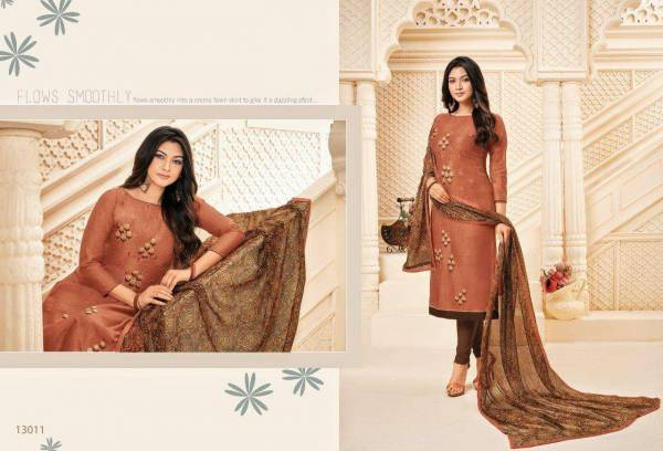 Shagun Autograph 13 New Collection Of New Design New Pattern Embroidered Neck Dress Material