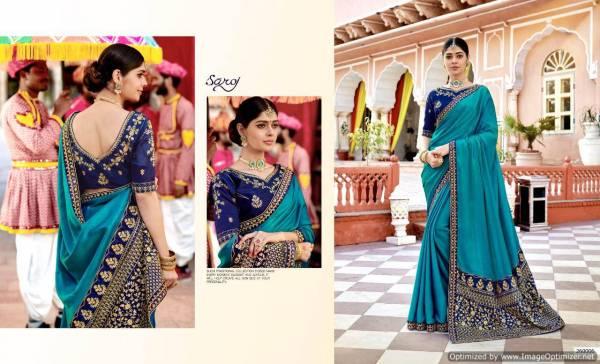 Saroj Samaira Latest Designer Heavy Bridal Wedding Wear Saree Collection With Work And Heavy Pallu