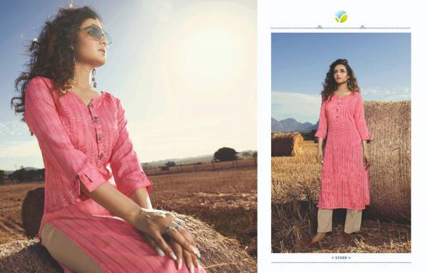 Vinay Tumbaa Aqua Rayon Slub Kurtis with Cotton Satin Pant Designer Party Wear Kurtis Collections