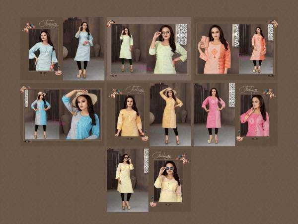 Aagya Pankhi Latest Casual Wear Printed Cotton Kurti Collection