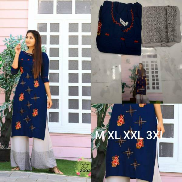 ARADHNA FASHION GIRL VOL 2 Heavy Rayon with Embroidery Work & Manual Work with Heavy Rayon With Ordinary Print & Gold Print Pazzo Kurtis Set Collections
