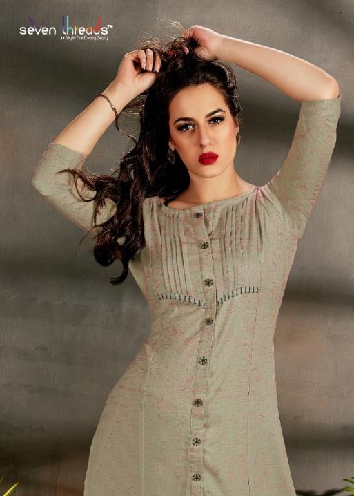 Seven Threads Rutba New Designer Straight Cut Long Kurtis Collection