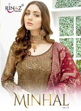 Rinaz Minhal Vol 2 Latest Heavy Designer Pakistani Salwar Suit Collection