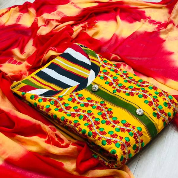 Latest Designer Casual Wear Cotton Dress Material Collection