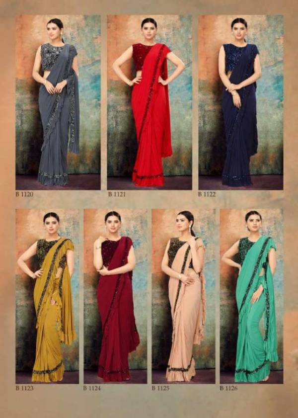 Shiya Designer Ready To Wear Party Wear Saree Collection