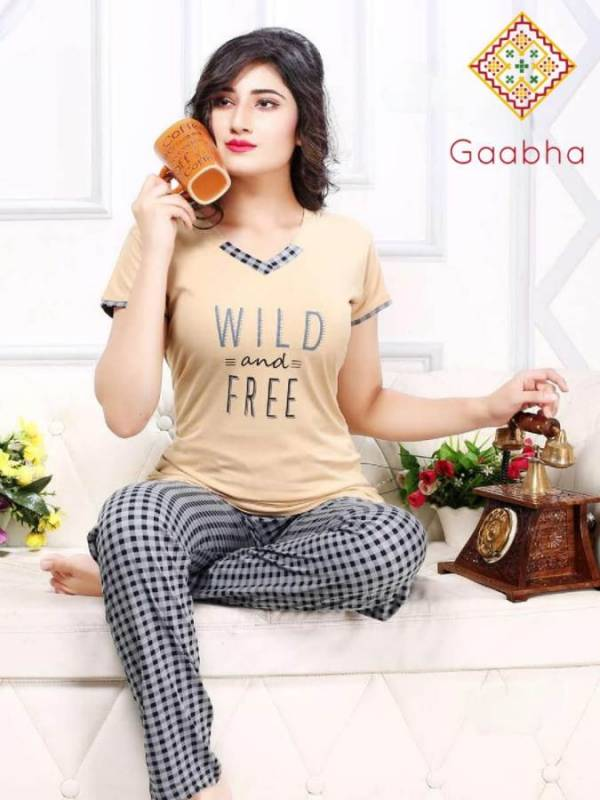 Gaabha Sweet Dream Vol 6 Latest Collection Of Printed Night Pant With Comfortable Top Night Suit