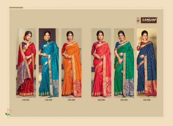 Sangam Roop Sundari Designer Festive Party Wear Handloom Silk Saree Collection