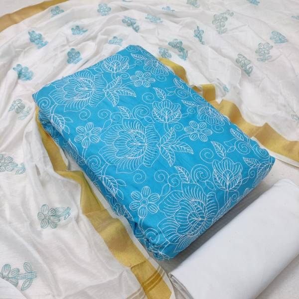 Jall Dupatta Work Pc To Pc Casual Wear cotton Dress With modal work Dupatta Material Collection