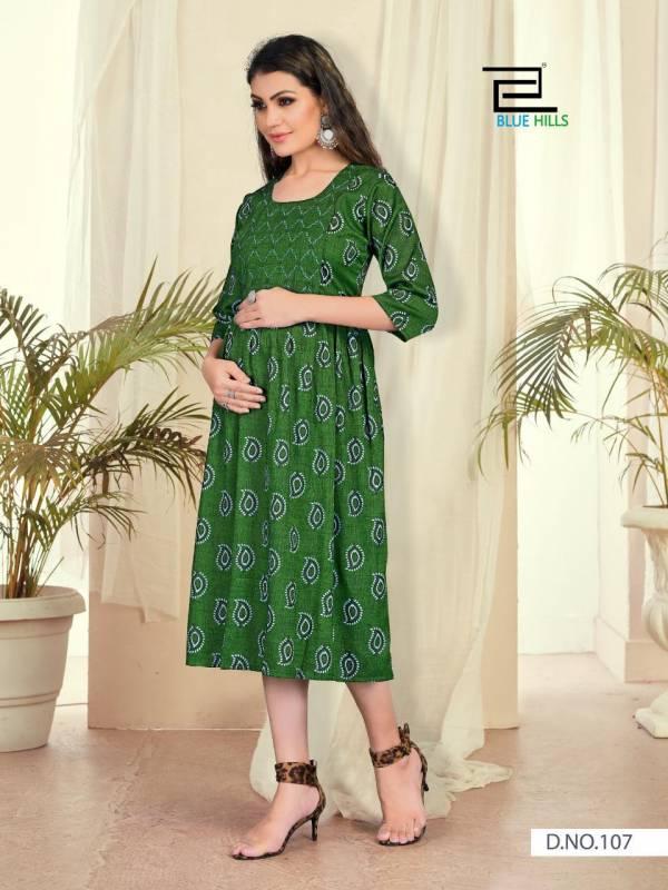 Blue Hills Good New 6 Designer Ethnic Wear Rayon Printed Long Kurtis Collection
