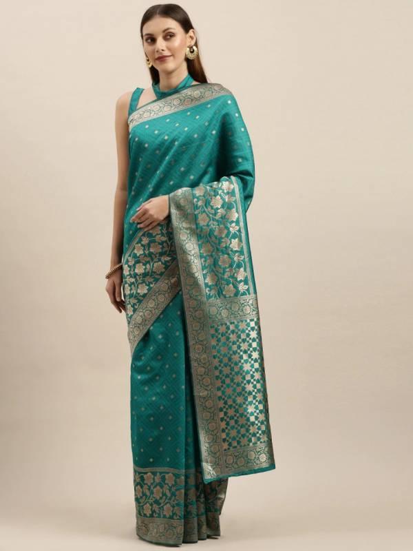 Rich Pallu 4 Fancy Casual Wear Designer Silk Blend Printed Sarees Collection
