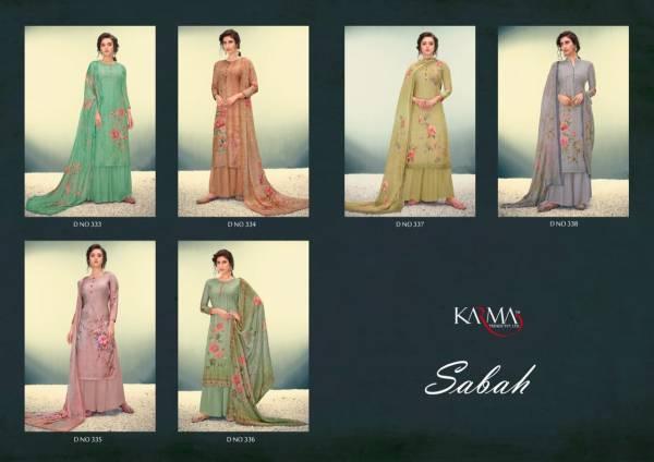 Karma Subah Latest Designer Muslin Embroidered Digital Print Dress Material Collection
