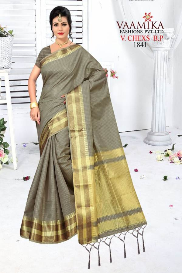 Vaamika V Chex Latest Collection Of Daily Wear Party Wear Stylish Saree Having Beautiful Border