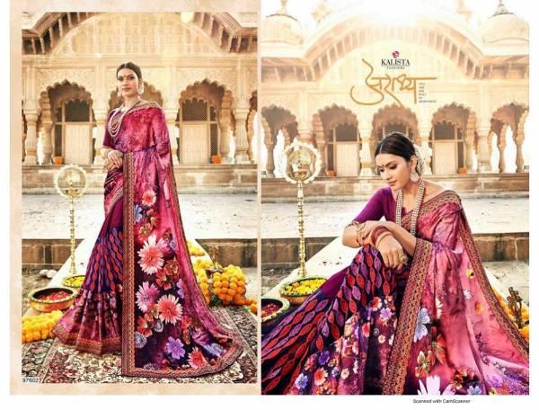 Kalista Autograph Nx Latest Fancy Designer Festive Wear Georgette Saree Collection
