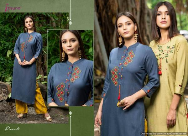 Psyna Preet Latest Classy Kurtis Collection With Plazzo
