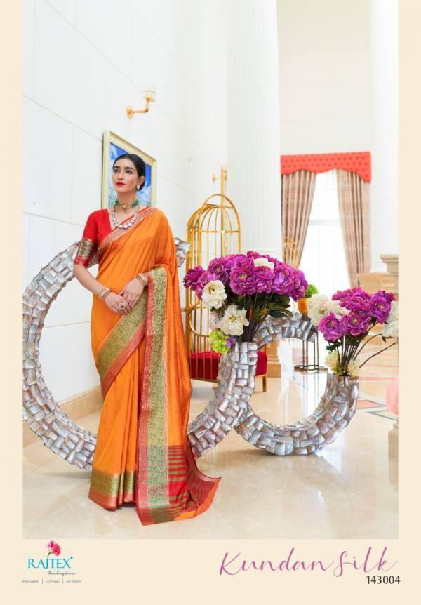 Rajtex Kundan Silk Latest Rich Look Designer Bordered Saree Collection