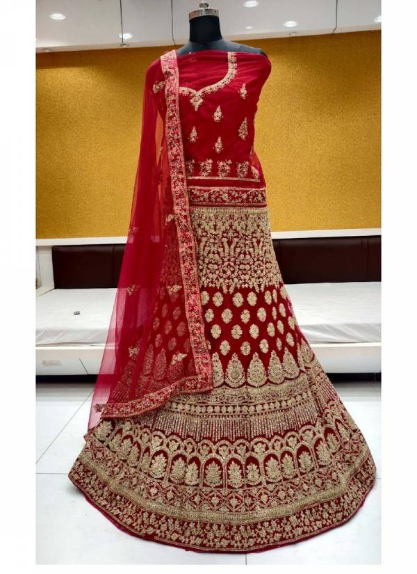 Dark Coin 3 Saanchi Heavy Net Bridal Lehenga Choli Collections