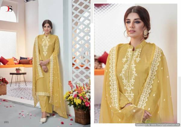 Deepsy Heavin Latest Designer Heavy Fancy Dress Material Collection With Pure Organza Embroidery Work Dupatta