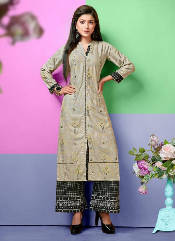 Hayat Latest Designer Rayon Top Hand Work Plazo Kurti Collection 001-008