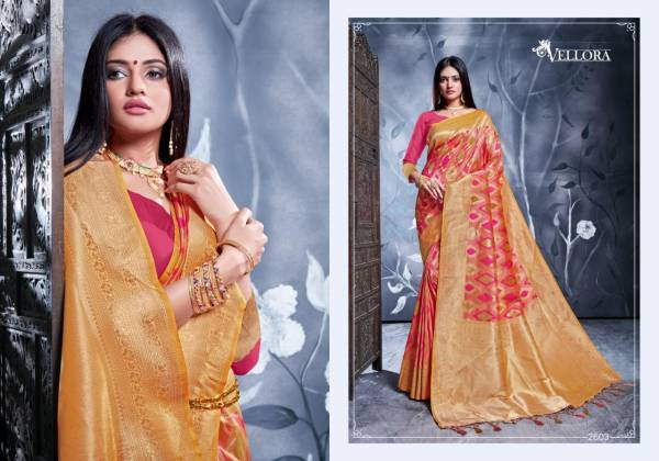 Vellora Vol -16 Launch Of Latest Designer Rich Look Pallu Banarasi Silk Saree Collection