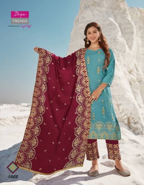 Dupatta House 1 Latest Fancy Designer Ethnic Wear Heavy rayon Embroidery Work Ready Made Salwar Suit Collection