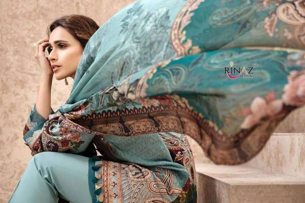 Rinaz Iris Lawn 2020 Latest Collection Of Pakistani Jam Silk Digital Print WIth Self Embroidery Salwar Suit