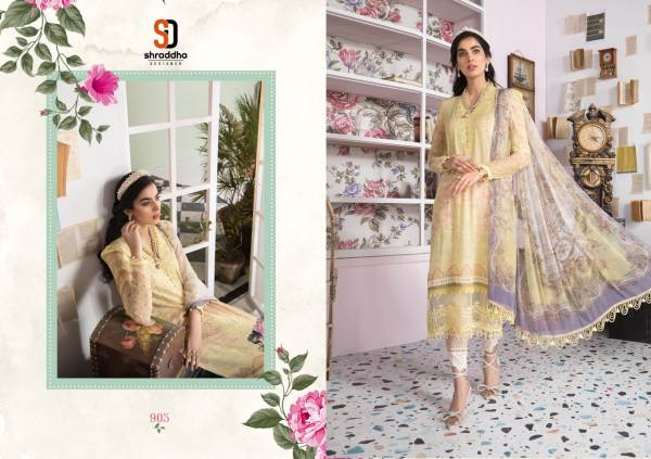Sharaddha M Print 9 Festive Wear Embroidery Cotton Pakistani Salwar Kameez Collection
