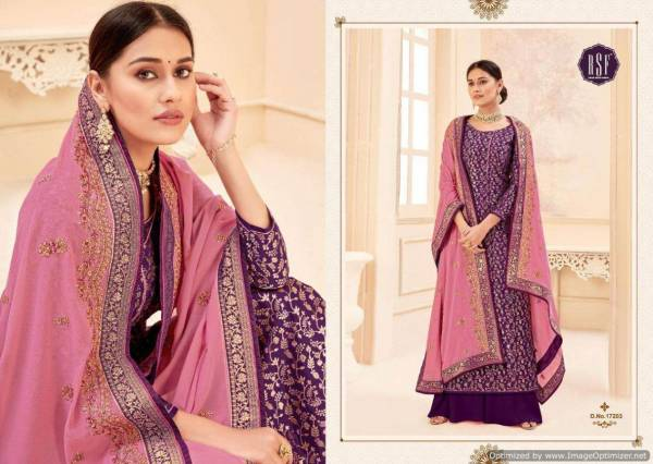 RSF Swag Vol 3 Latest Designer Party Wear Wedding Wear Salwar Suit Collection With Pure Rangoli Silk Jacquard Border With Work Dupatta