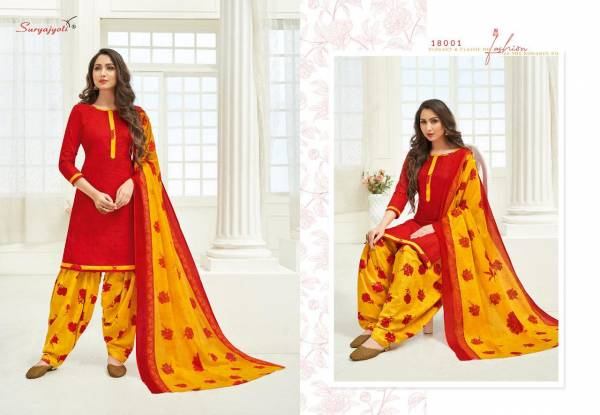 Suryajyoti Patiyala Kudi 18 New Pattern Designer Pure Cotton Printed Patiyala Dress Material Collection