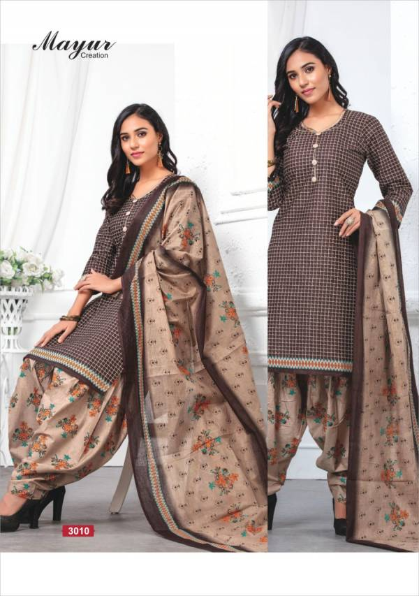 Latest Design Printed Pattern Cotton Dress Material Collection