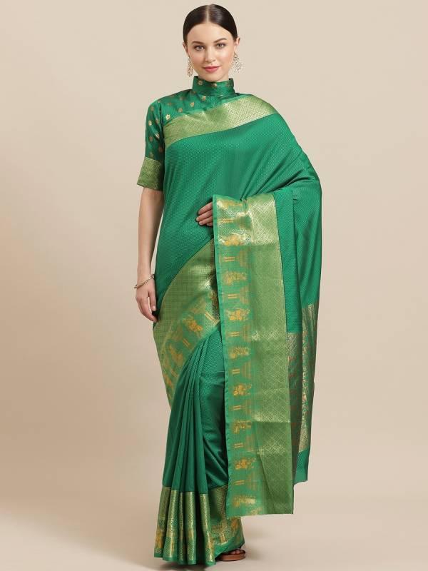 Latest Designer Kalamkari Silk 1 Banarasi Silk Saree Collection