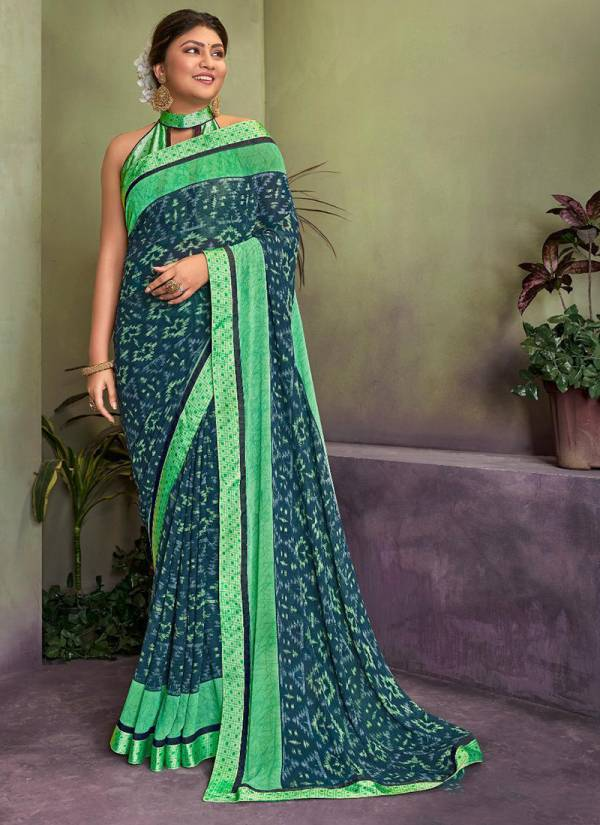 Mintorsi Latest Weightless Georgette Casual Designer Printed Saree Collection 20701-20708