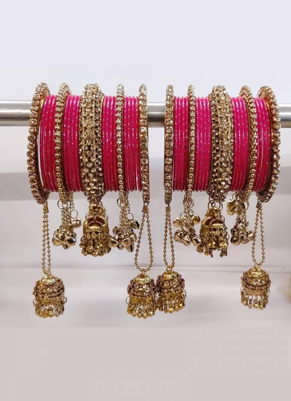 Latest Heavy Bridal Bangles Collection Jhumki Latkan Style