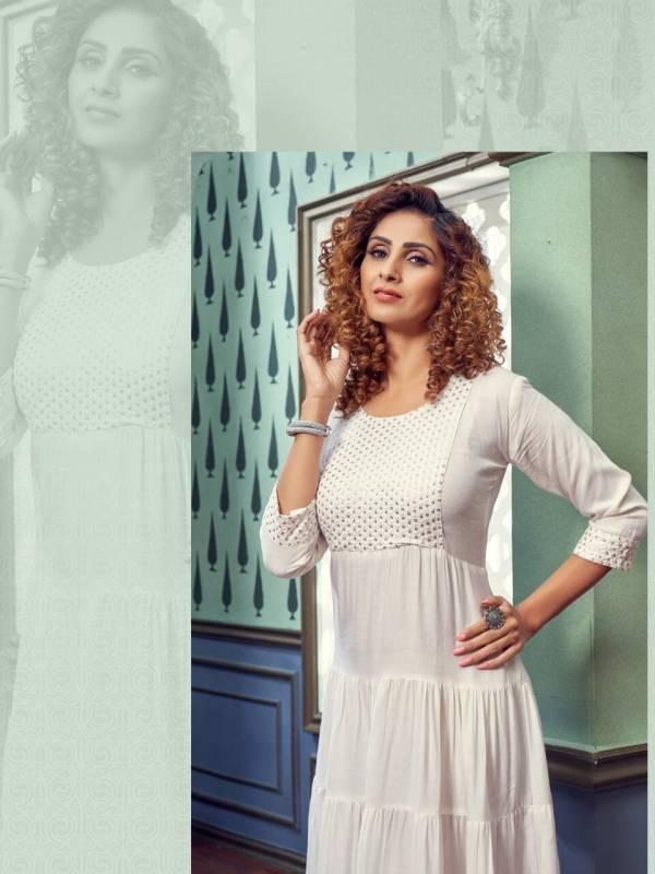 Bonie Fenni Fancy Ethnic Wear Sequence Rayon Designer Latest Kurti Collection
