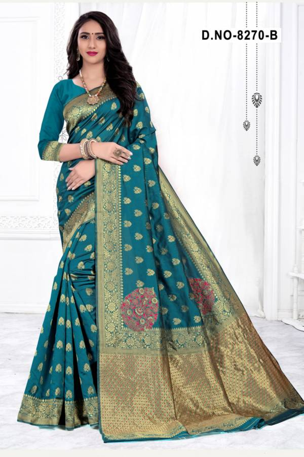 Melody 8270 Designer Handloom Cotton Silk Saree Collection at Wholesale Price