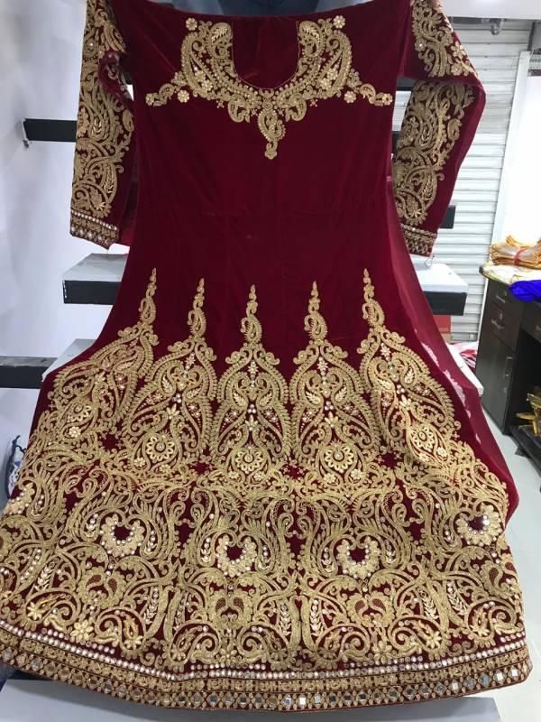 SN 1013 New Launch of Heavy Designer Wedding Anarkali Suit With Heavy Work