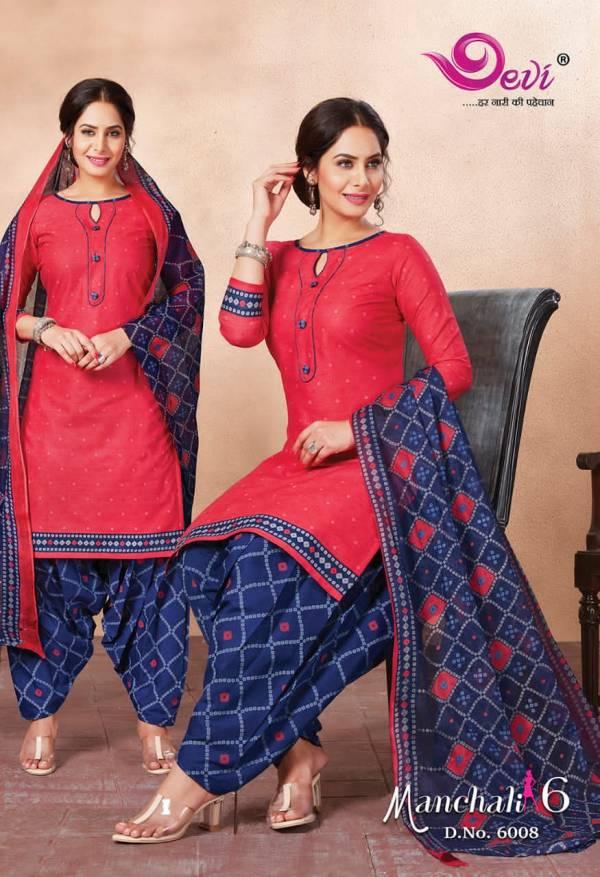 Devi manchali 6 Latest Fancy Regular casual wear printed cotton collection
