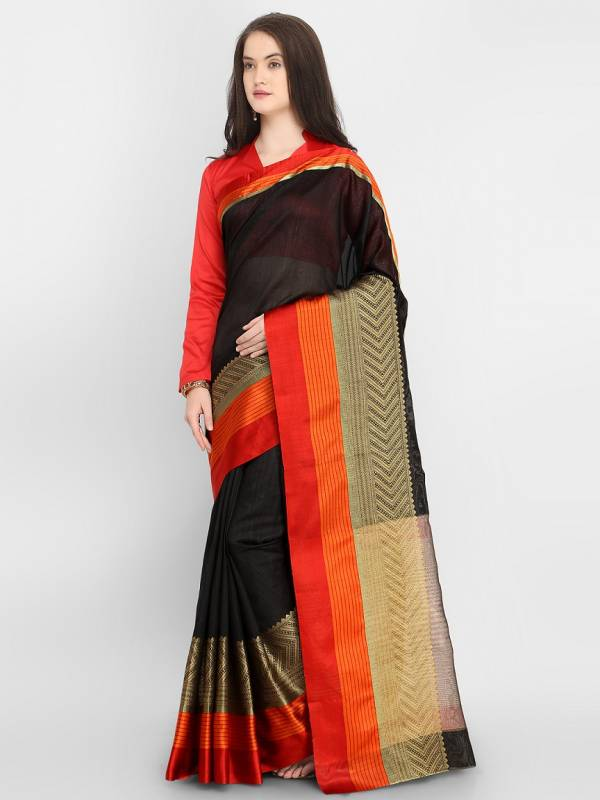 Latest Beautiful Designer Bordered Casual Wear Silk Saree Collection