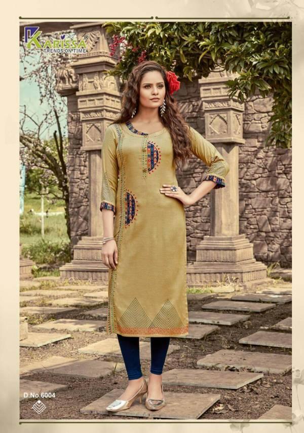 Karissa Rich Girl 6 Ethnic Wear Rayon Designer Long Kurti Collection