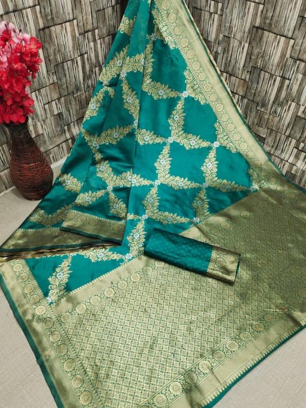 Maahi 3 Latest Fancy Designer Heavy Casual Wear Banarasi Silk Saree Collection