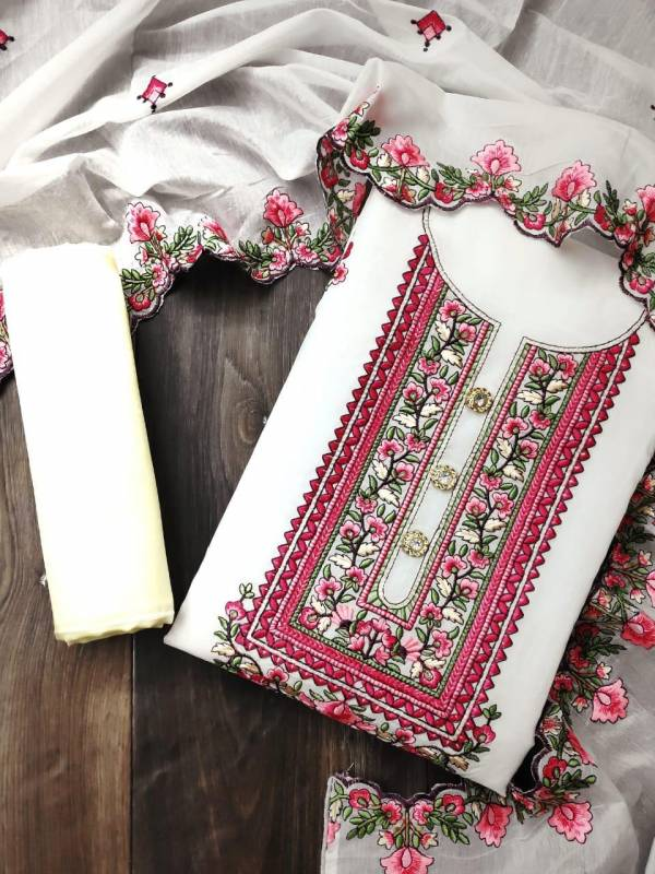Latest Collection Of Festive Wear Designer Chanderi Designer Dress Material