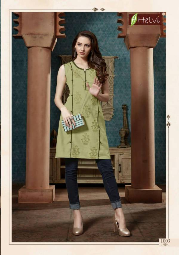 Hetvi Kriti Latest Designer fancy Casual Wear Printed Short Kurti Collection