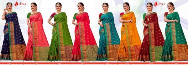 Jalsa 9185 Latest Fancy Heavy Designer Casual Wear Silk Cotton Sarees Collection